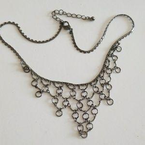 Gunmetal Black necklace